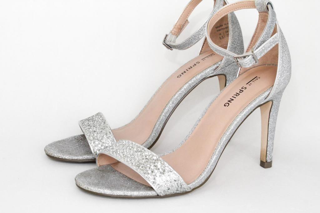 f42de81d0a5 Elegantes sandalias zapatos de mujer para fiesta Call it Spring plateadas  talla 37