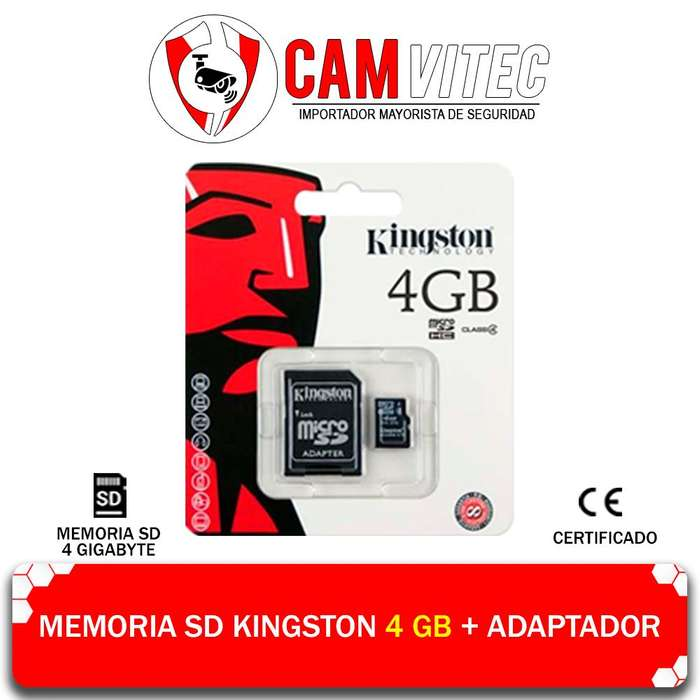 Memoria Micro Sd 4gb Adaptador Almacenamiento Clase 10
