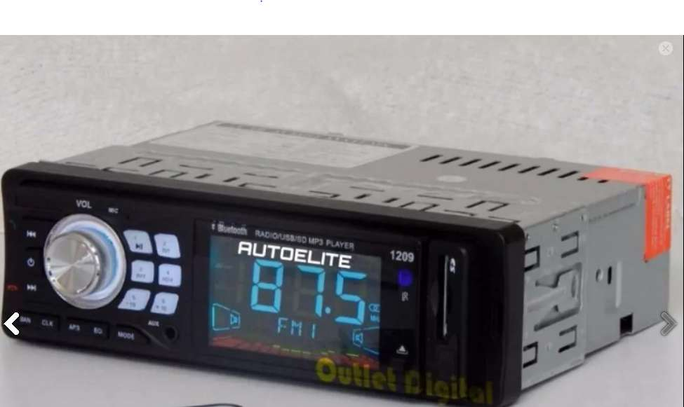 Radio Bluetooth Full Led control REmoto Usb Sd,