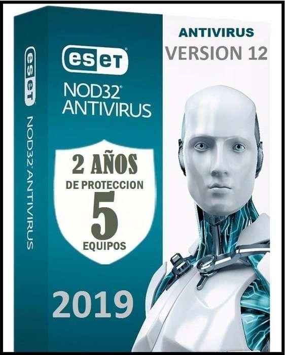 Eset Nod32 Antivirus Licencia original 5 pc x 1 Años