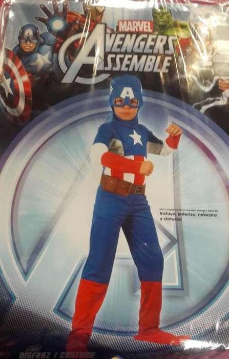 Disfraz Capitán América Marvel Talla 4 y Princesita Sofía Talla 6