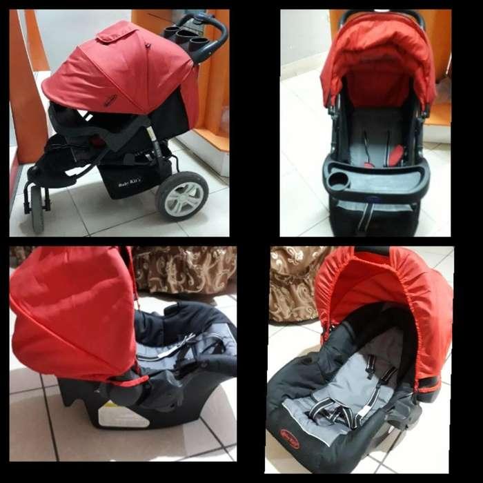 Remato Coche Baby Kit's con Porta Carro