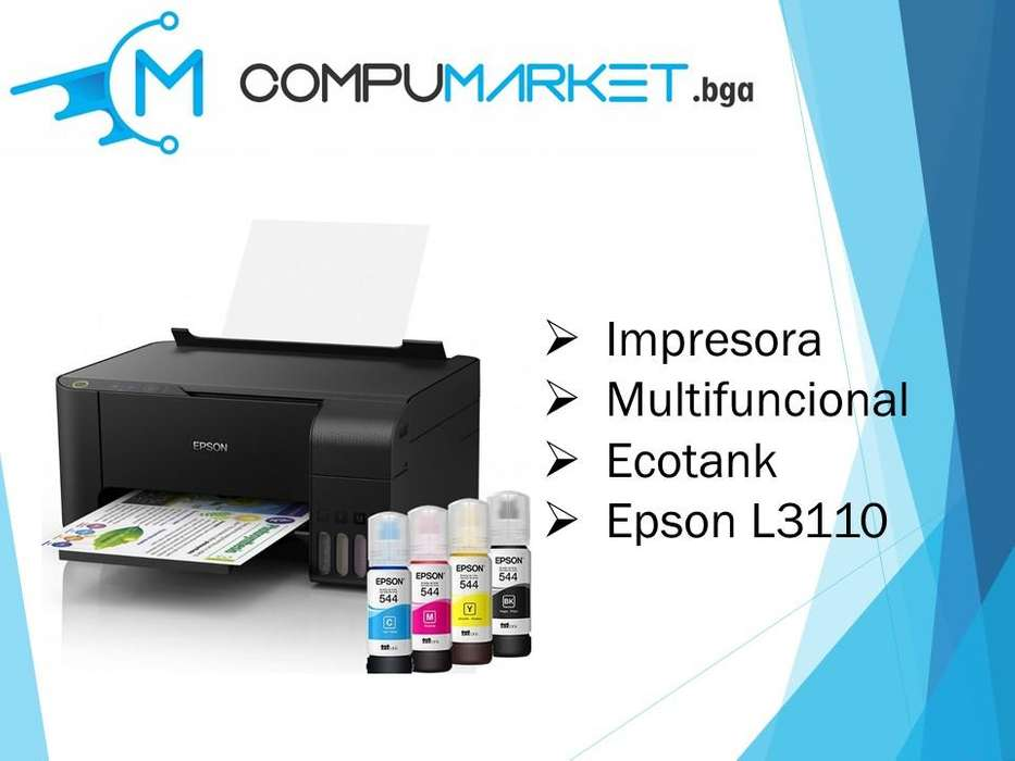 Impresora Epson Multifuncional Ecotank L3110 nuevo y facturado