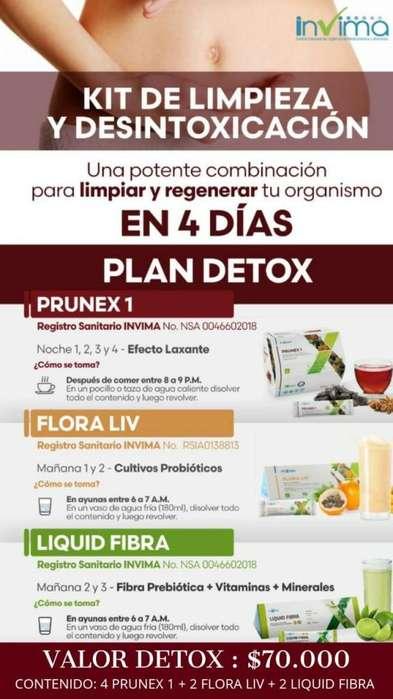 Kit Detox Limpieza De Organismo Natural en 4 Dias