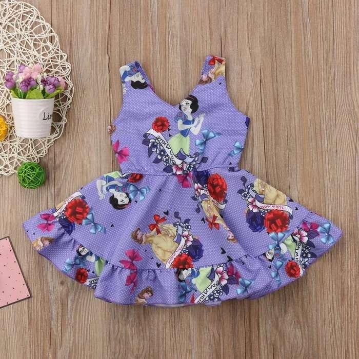 Vestido para Niñas de Blancanieves