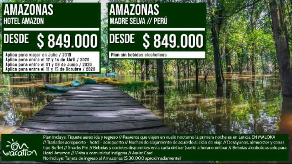 Viaja Al Mejor Hotel, Amazonas Todo Incl