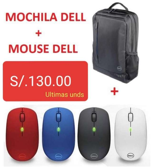 <strong>mochila</strong> Dell Mouse Dell Inalámbrico