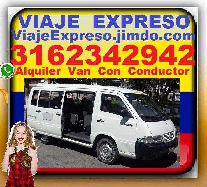 Transporte 16 Pasajeros, Alquiler Vans, Van, Con Conductor, Desde Bogota, Chia, Cajica, Zipaquira, Andres Carne De Res,