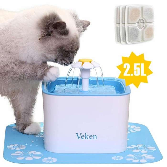 Fuente para mascotas, dispensador automático de agua