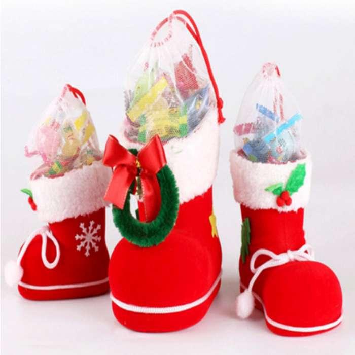 Botas Navidad Grande L Regalo Decoración Dulces