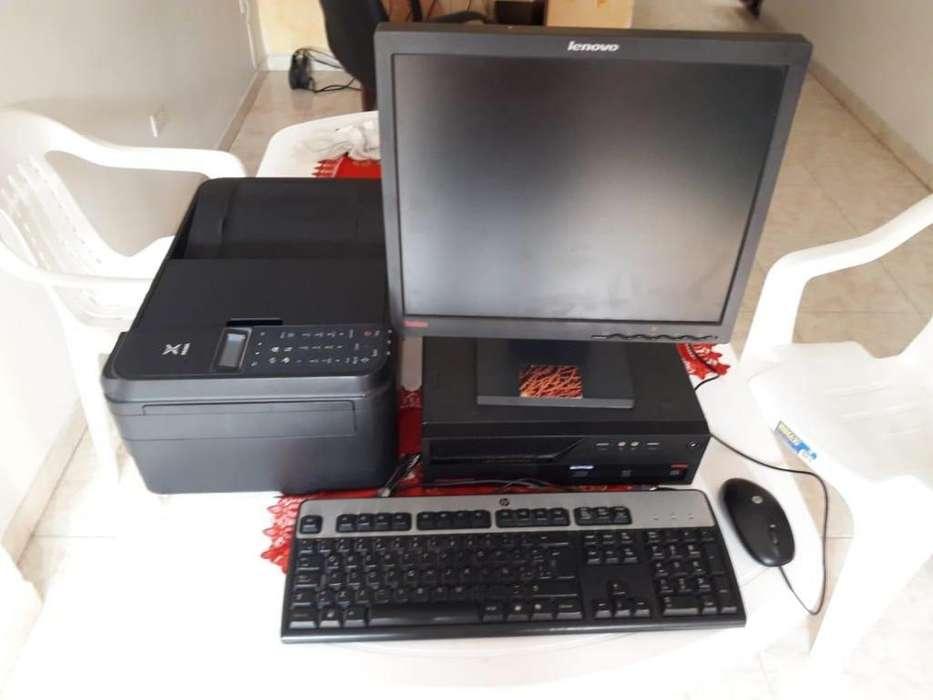 Computador lenovo de escritorio con impresora canon