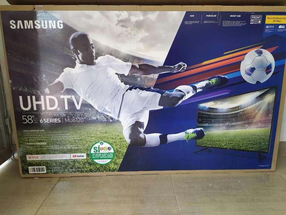 Tv Samsung 58'', Ultra Hd 4k Mu6120