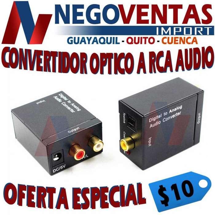 CONVERTIDOR DE AUDIO DE OPTICO A RCA