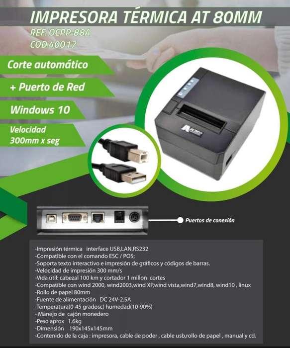 IMPRESORA TERMICA CORTE AUTOMATICO JALTECH 80MM SERIAL RED USB