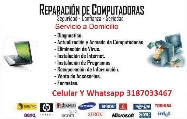 COMPUTADORES SOPORTE TECNICO MANTENIMIENTO REPARACION