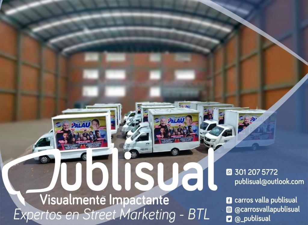 VALLA MOVIL /CARRO VALLA/ CARRO VITRINA/ OFICINA MOVIL /BTL/ PUBLICIDAD