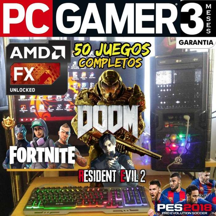 Pc Gamer Amd Fx 6300 8 Gb Placa R7 250 Gddr5 50 Juegos 2019