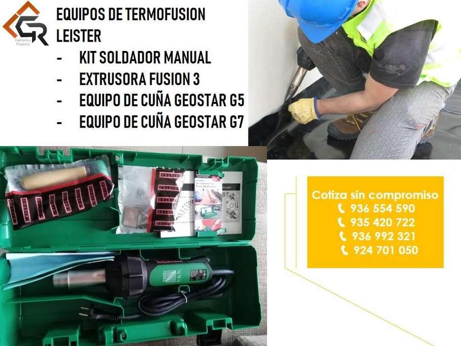 Venta de Maquinas De Termofusion Para Soldar Geomembrana HDPE