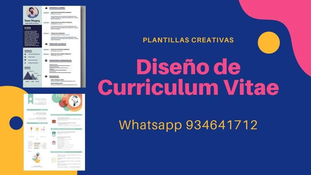 Diseño de curriculum vitae Atractivo