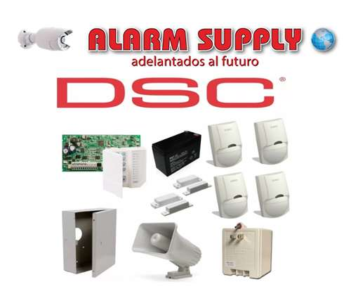 Kit Dsc De Alarma De 2 Magneticos, 4 Sensores Alarm Supply