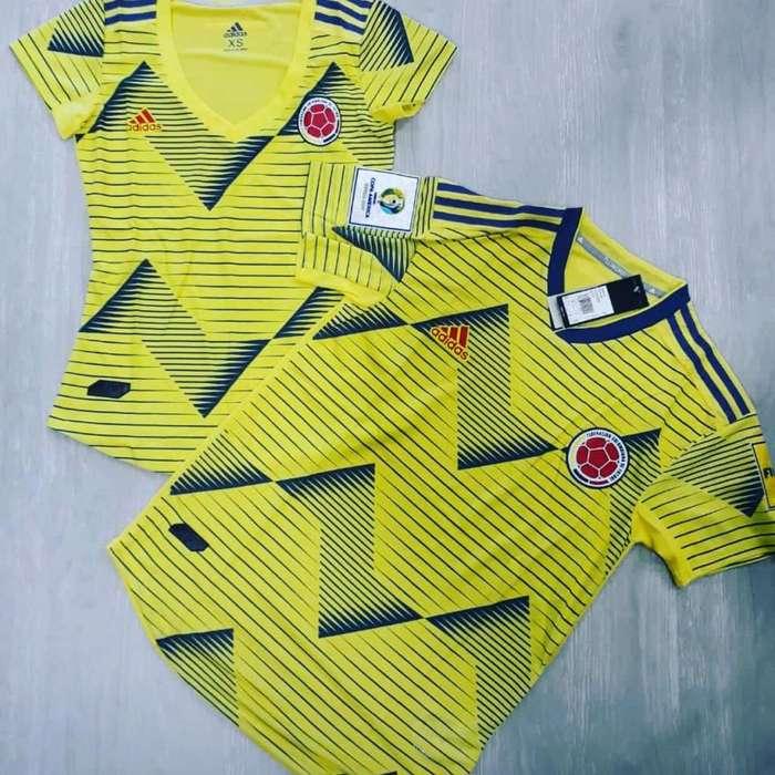 d933716d6cb6 Nueva Camiseta Selección Colombia 2019 Logos Copa America