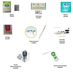 Electroacupuntura con electrodos y lapiz acupuntor Tens terapias alternativas