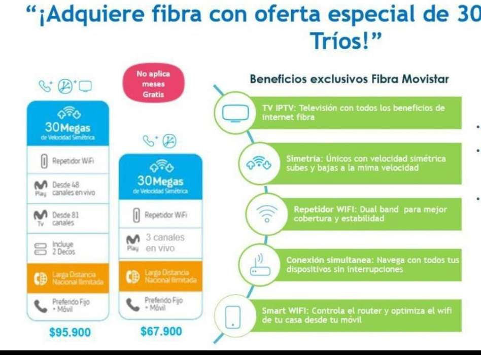 Internet <strong>movistar</strong> Fibra Óptica