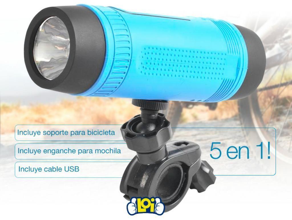 Parlante Y Linterna Resistente Al Agua.