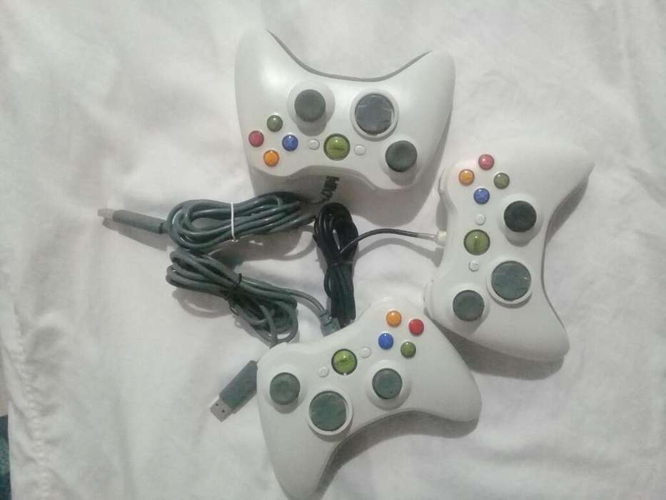 3 Controles Pc Mando Joystick Tipo Xbox.