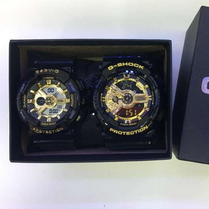 Reloj Casio Pareja G Shock Y Baby G 100