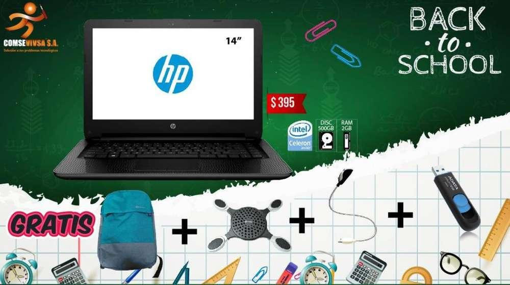 LAPTOP HP 14 CELERON 500GB DISCO DURO/2GB RAM ACCESORIOS GRATIS