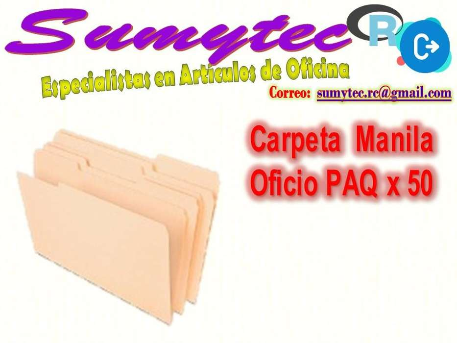 CARPETA MANILA T/OFIC PAQX50