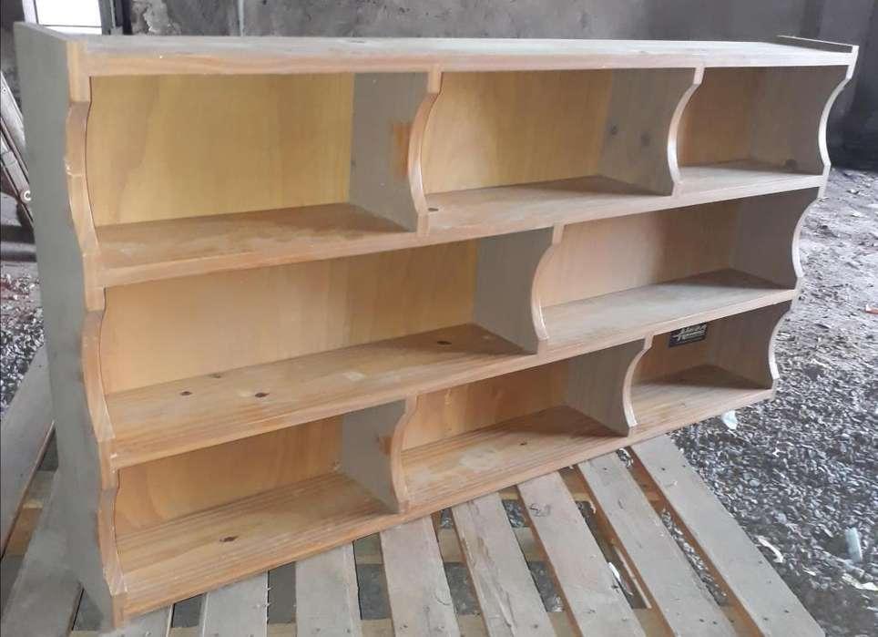 Biblioteca <strong>estantes</strong> repisa madera maciza