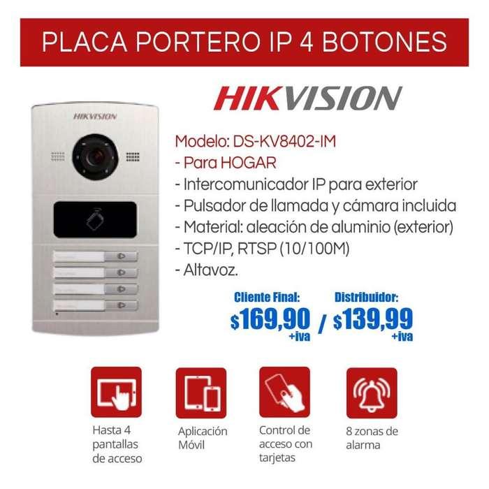<strong>video</strong> Portero Ip. 4 Botones. Citofono. Portero Casas. HIKVISION