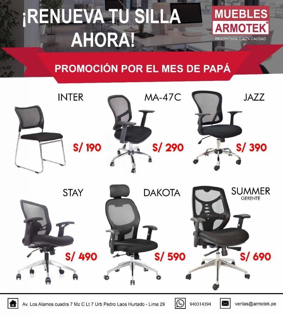 Sillas Ergonomicas Para Oficina Peru.Oferta De Sillas Giratorias De Oficina Ergonomicas Nuevas Lima