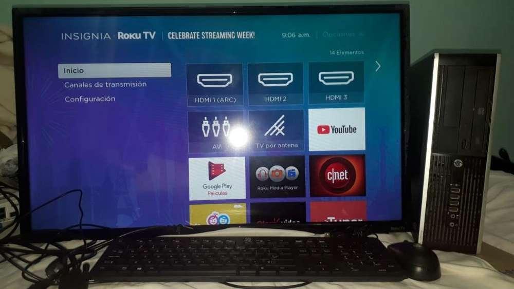Televisor Y Monitor Juntos