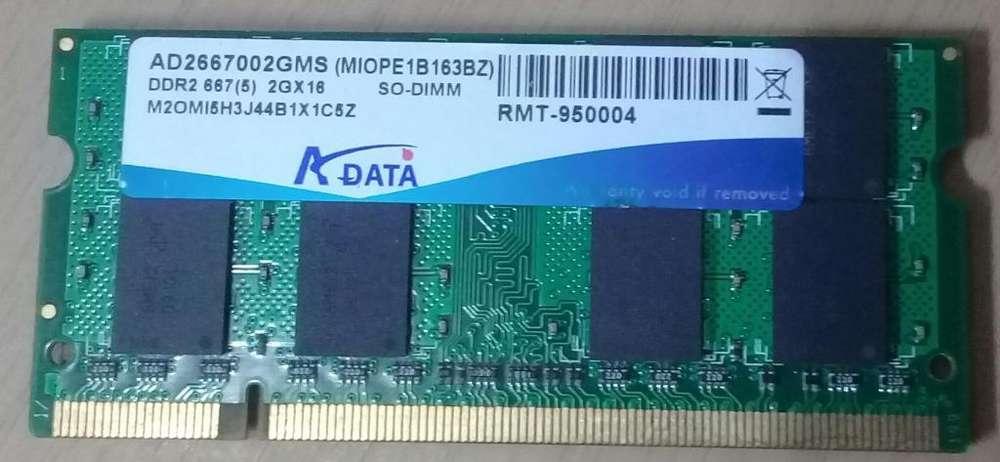 Memoria So-dimm 2gb X 16 Ddr2 667 Mhz Adata
