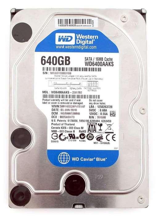 Western Digital 640gb 640 Gb Disco Duro Hdd 16mb Caché Sat