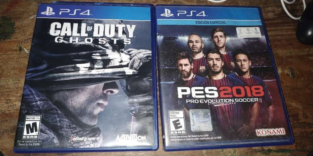 Vendo Call Of Duty Y Pes 2018