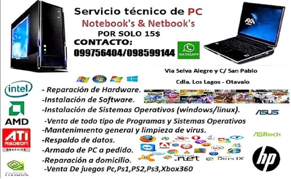 REPARACION Y MANTENIEMIENTO DE COMPUTADORAS DESDE 15
