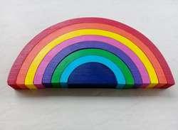Juguete didactico de madera Arco Iris Montessori Waldorf