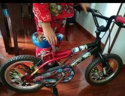 Bicicleta Niños Motivo Cars