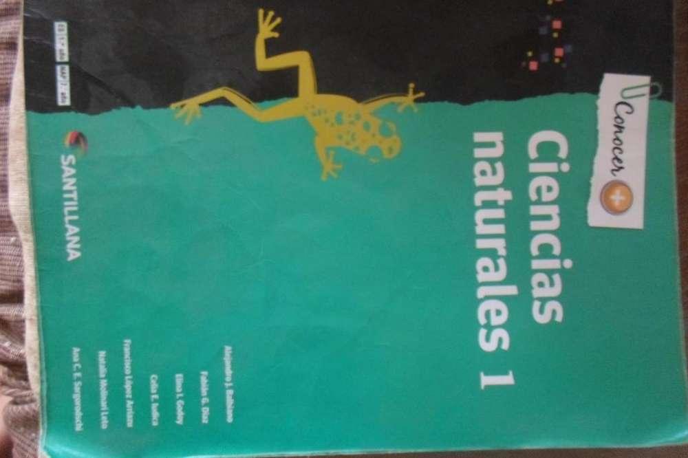 Libro de Ciencias Naturales 1 usado. Santillana. Conocer