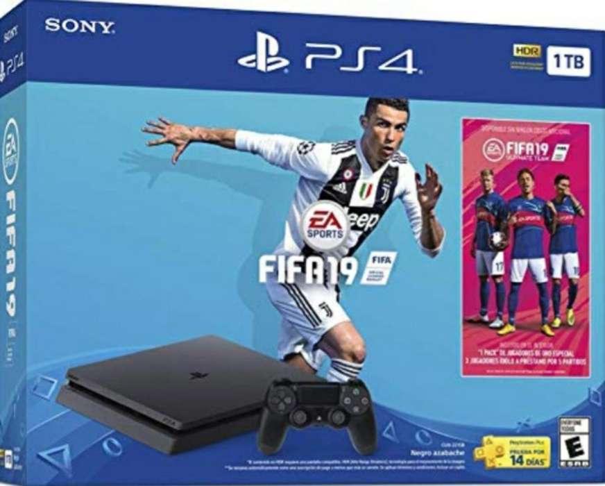 Play Station 4 Nueva-1 Tb-fifa 19 Fisico