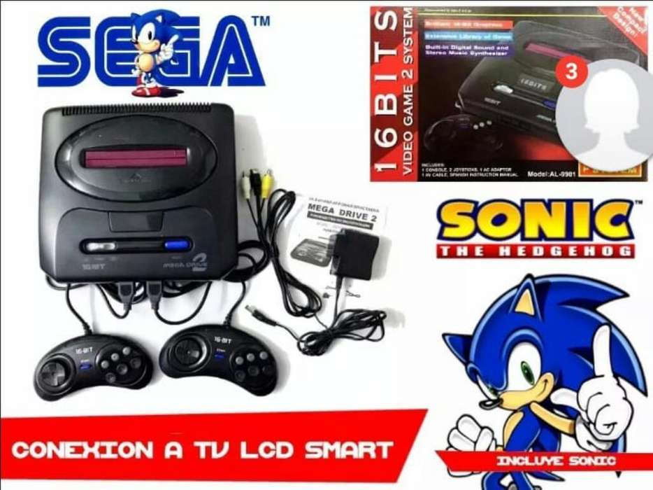 Consola Sega Aliens con Mas de 200 Juego