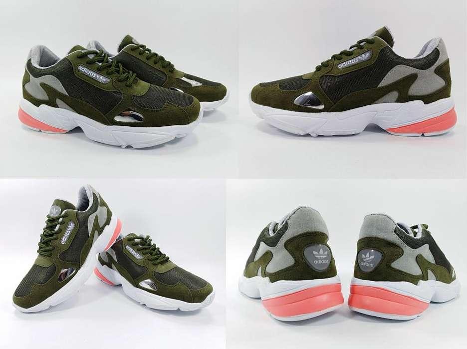 Tenis Adidas Falcon Verde para Mujer Envío GRATIS