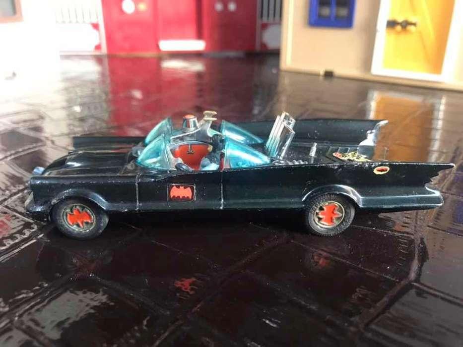 Antiguo Batimobil Corgi Batman 1960 Gt Britain Diecast Retro Metal Usado