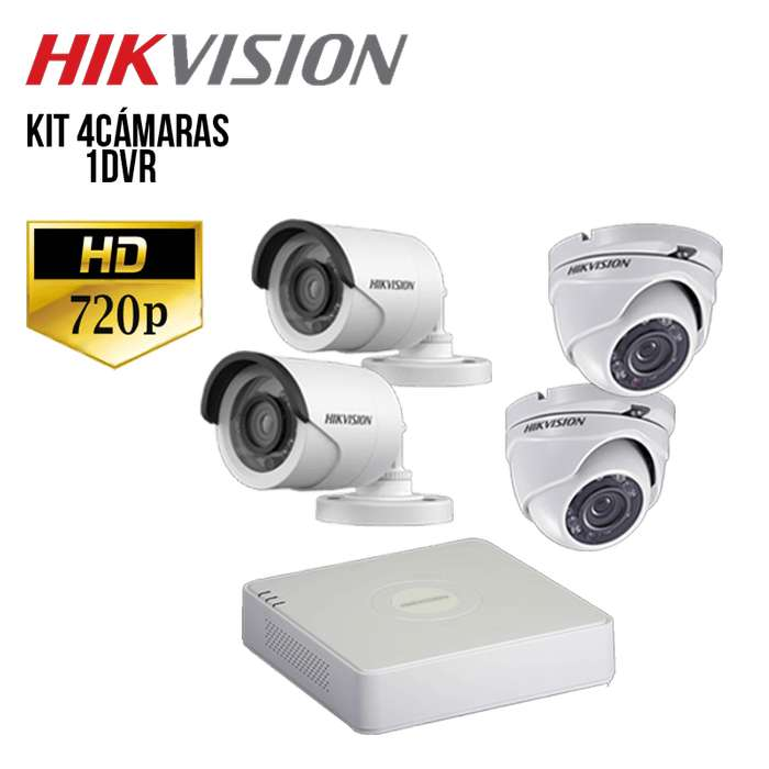 Kit de 4 Camaras Hikvision <strong>hd</strong>