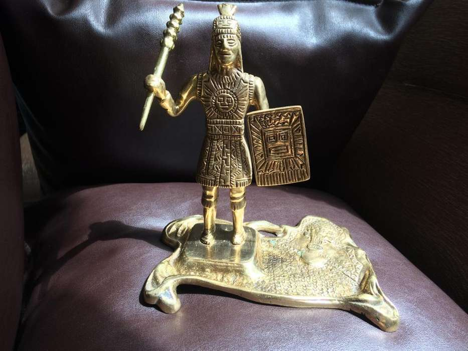 Cenicero inca de bronce