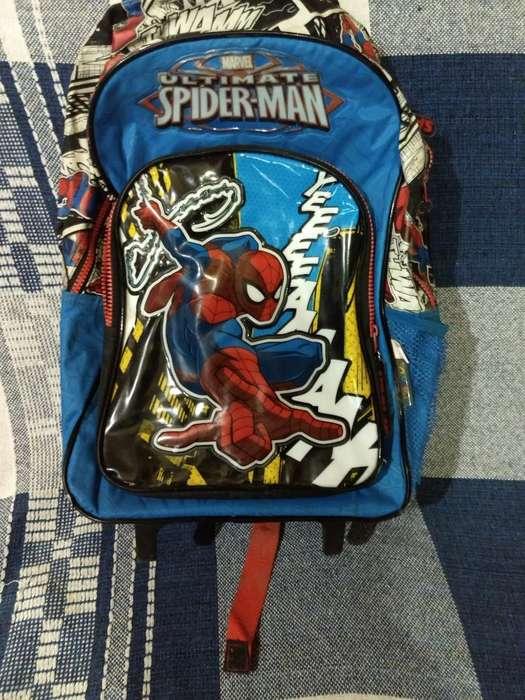 Vendo Mochila con Ruedita Spiderman